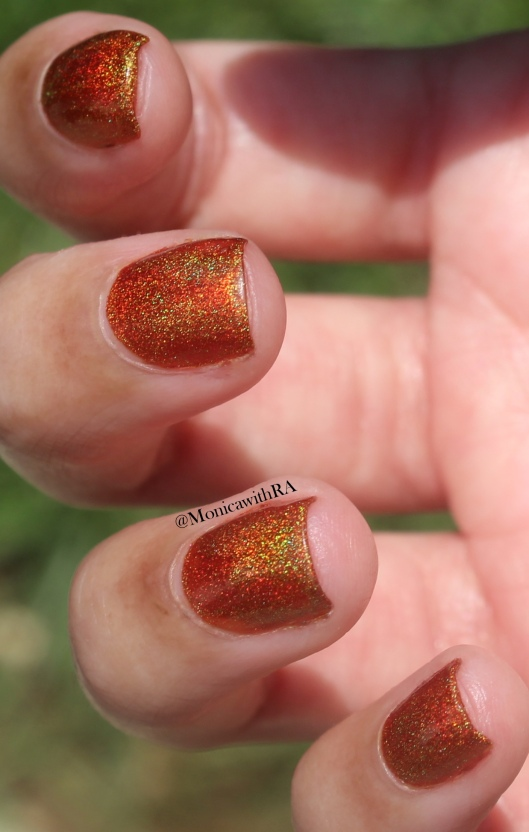 Born Pretty Store Holographic Nail Polish: Pumpkin Carriage Review