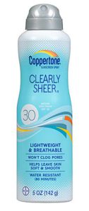 Best Sunscreens of 2018 | the Rite of Aging...Early (Coppertone Clearly Sheer)