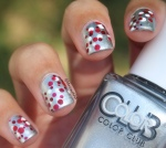 Red and White Dotticure Nail Art ft. Color Club, Essie and Sephora by OPI