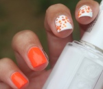 31DC2018 - 31 Day Challenge: Orange Dotticure Nail Art ft. Essie, Chanel, Color Club