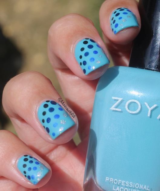 #31DC2018 (31 Day Challenge 2018) Blue Dots Nail Art ft. Zoya, Pahlish, Pipe Dream Polish