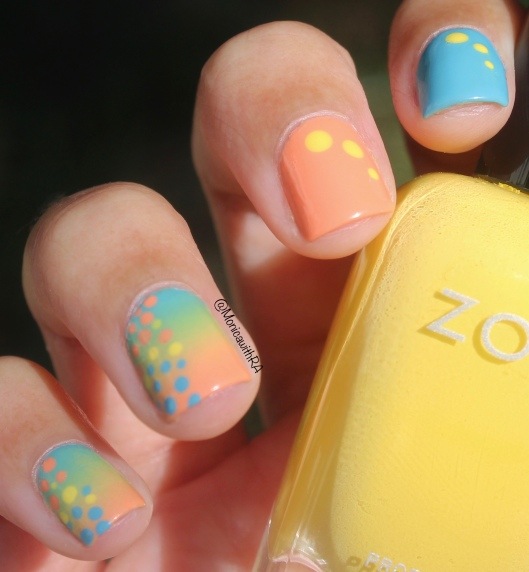 #31DC2018 (31 Day Nail Art Challenge) Gradient Nail Art ft. Zoya Nail Polish