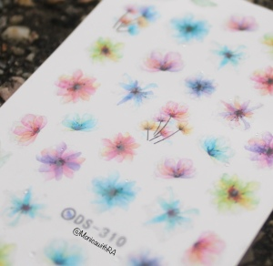 Born Pretty Store Watercolor Floral Decals product ID 30401