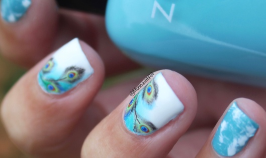 Peacock Feathers Water Decals Nail Art ft. Born Pretty Store Review