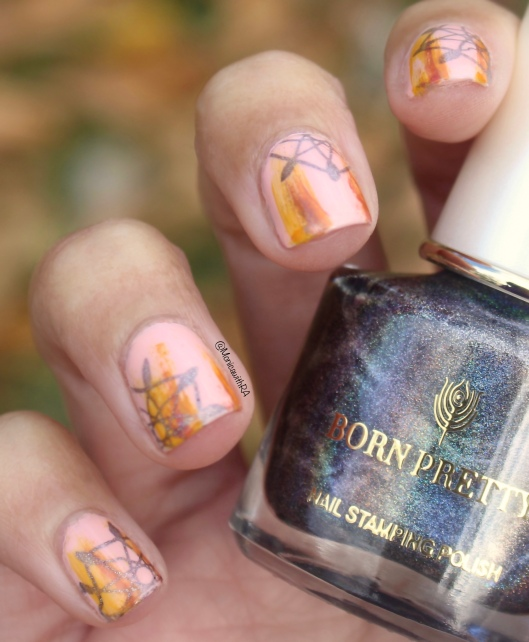 Abstract and Holographic Stamping Nail Art ft. Born Pretty Store, Sally Hansen OPI Nail Polishes
