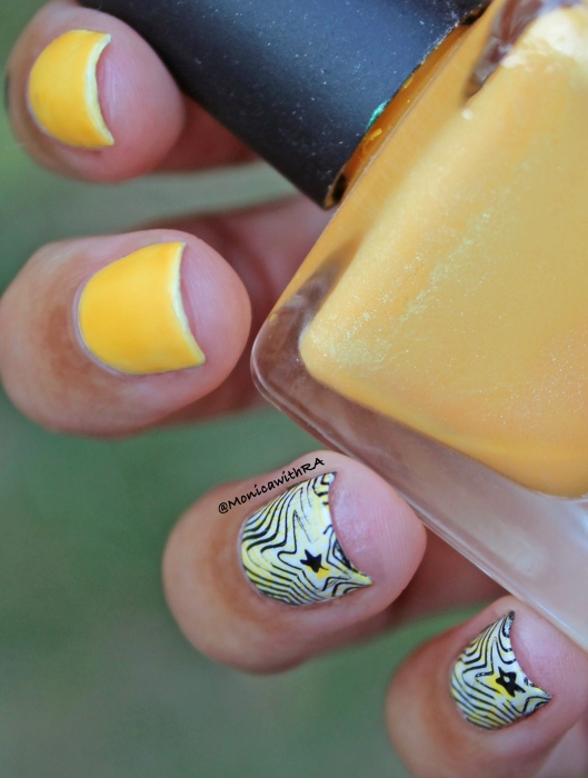 Born Pretty Store Stamping Plate Yellow Nail Art Review
